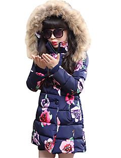 女の子 お出かけ カジュアル/普段着 学校用 フラワー ポリエステル ダウン&コットンキルティング 冬 長袖