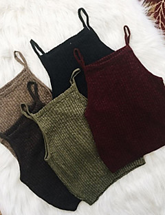 cheap Women's Sweaters-Women's Street chic Tank Top - Solid Colored Strap