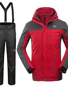 tanie Odzież turystyczna-Męskie Kurtka i spodnie narciarskie Wodoodporny Keep Warm Wiatroodporna Narciarstwo 100% Polyester