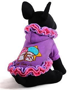 犬 ドレス 犬用ウェア キュート カジュアル/普段着 キャラクター パープル ピンク