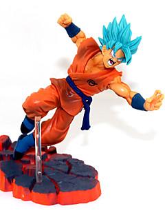 billige Anime cosplay-Anime Action Figurer Inspirert av Dragon Ball Son Goku PVC 14 CM Modell Leker Dukke