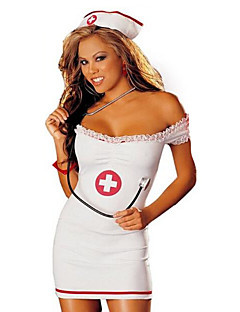cheap Sexy Costumes-Nurse Career Costumes Cosplay Costume Party Costume Women's Christmas Halloween New Year Festival / Holiday Halloween Costumes Color Block