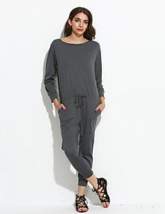 billige Jumpsuits og sparkebukser til damer-Dame Vintage Kjeledresser - Ensfarget