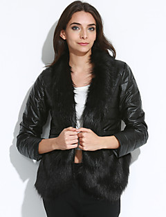 cheap Women's Furs & Leathers-Women's Classic & Timeless Solid Colored Solid Color,Formal Style