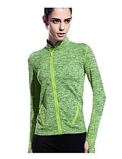 billiga Träning-, jogging- och yogakläder-Dam T-shirt för jogging - Röd, Grön, Blå sporter Mode T-shirt / Överdelar Yoga, Fitness, Gym Långärmad Sportkläder Snabb tork, Andningsfunktion, Minskar skavsår Elastisk