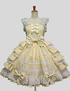 billiga Lolitamode-Prinsessa Söt Lolita Ruffle Dress Spets Dam jsk / Jumper Kjol Cosplay Purpur / Gul / Blå Ärmlös Knälång Halloweenkostymer