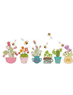 Modă Florale Peisaj Perete Postituri Autocolante perete plane Autocolante de Perete Decorative,Vinil MaterialLavabil Detașabil