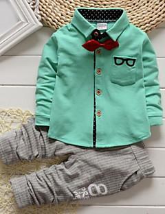 tanie Odzież dla chłopców-Komplet odzieży Bawełna Dla chłopców Wiosna Jesień Długi rękaw White Yellow Green Różowy