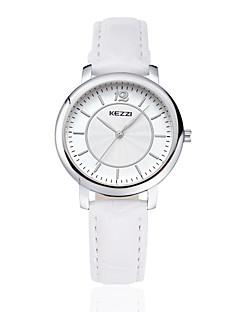 KEZZI カップル用 ファッションウォッチ リストウォッチ クォーツ 日本産クォーツ PU バンド カジュアルスーツ ブラック 白 ブラウン