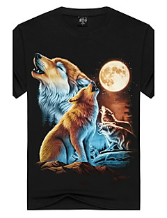 Men's Sports Going out Club Holiday Casual/Daily Simple Street chic Punk & Gothic T-shirt,Print Animal Print Round Neck Short Sleeve