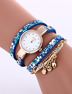 billige Armbåndsure-Dame Quartz Armbåndsur Afslappet Ur Læder Bånd Elegant Mode Sort Blåt Gråt