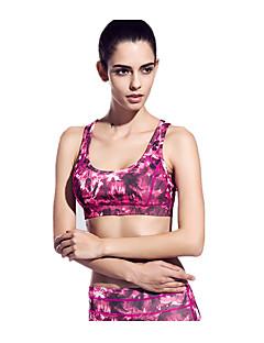 billige Løbetøj-Dame SportsBH'er Anti-Rystelse, Hurtigtørrende, Åndbart SportsBH'er / Toppe for Yoga / Pilates / Træning & Fitness Nylon, Tactel Rød / Blå
