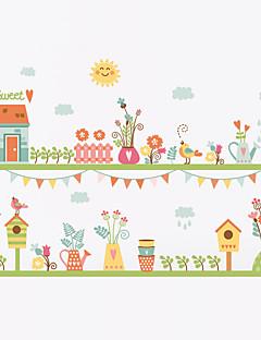Botanic Modă Florale Perete Postituri Autocolante perete plane Autocolante de Perete Decorative,Vinil MaterialRe-poziționabil Lavabil