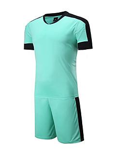 Homme Football Ensemble de Vêtements/Tenus Respirable Confortable Eté Mosaïque Térylène FootballOrange Bleu de minuit Jaune Bleu Ciel