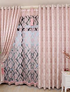 billige Gardiner-Stanglomme Propp Topp Fane Top Dobbelt Plissert Blyant Plissert To paneler Window Treatment Moderne Land, Mønstret Blomsternål i krystall