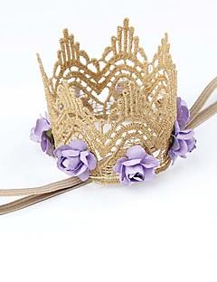 tanie Akcesoria dla dzieci-Akcesoria do włosów - Dla dziewczynek Dla chłopców - Na każdy sezon - Bawełna Koronka - Opaski na głowę - Czerwony Blushing Pink Purple