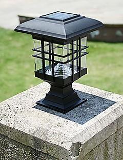 billige Lampestolper-solcellepanel lampe sollys lampe stolpelykter gjerde lamper vegglampe forlykter ledet sollys utendørs hage lys