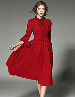 Maxlindy Women's Going out / Party/Cocktail / Holiday Vintage / Street chic /Midi Chiffon Swing Dress