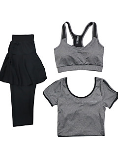 cheap Fitness Clothing-Women's Tracksuit Long Sleeves Quick Dry Breathable Sports Bra T-shirt Pants / Trousers Top Clothing Suits for Yoga Exercise & Fitness