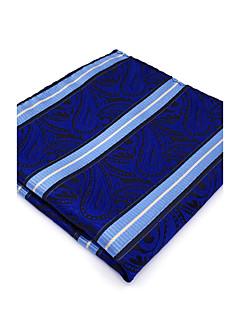 Herrer Slips og halstørkle,Vintage Søtt Fest Kontor Fritid Rayon,Paisleymønster Blå