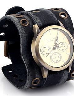 billige Læder-Herre Quartz Armbåndsur / Afslappet Ur Læder Bånd Afslappet Mode Sort