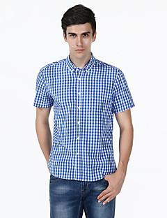 billige Herremote og klær-Bomull Skjorte Herre - Rutet