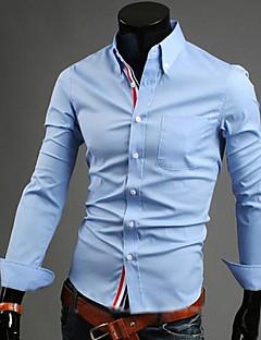 お買い得  メンズファッション&ウェア-男性用 プラスサイズ シャツ ボランダウン ソリッド コットン