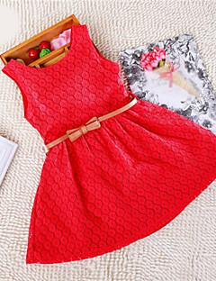 שמלה סרוג תערובת כותנה קיץ ורוד / סגול / אדום הילדה של