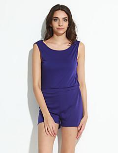 billige Jumpsuits og sparkebukser til damer-Dame Sparkedrakter - Ensfarget, Åpen rygg