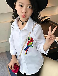 女の子 カジュアル/普段着 刺繍 コットン シャツ 春 秋 長袖 レギュラー