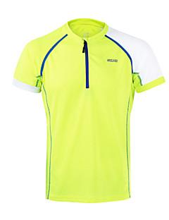 billige Løbetøj-Arsuxeo Herre Rund hals Løbe-T-shirt - Orange, Lysegul, Himmelblå Sport Toppe Fitness, Træningscenter, Træning Kortærmet Sportstøj Åndbart, Hurtigtørrende, Anti-statisk Uelastisk
