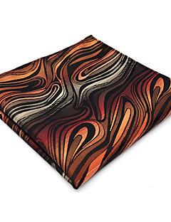 Herrer Slips og halstørkle,Vintage Søtt Fest Kontor Fritid Rayon,Geometrisk Oransje