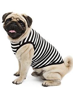 abordables -Chat Chien Tee-shirt Sweatshirt Vêtements pour Chien Classique Mignon Vacances Décontracté / Quotidien Mode Sportif Rayure Orange Gris