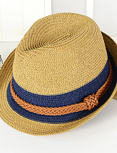 cheap Fashion Hats-Unisex Vintage Casual Bucket Hat Straw Hat Sun Hat - Color Block