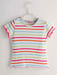 Baby Casual/Daily Striped Tee-Cotton-Summer-White