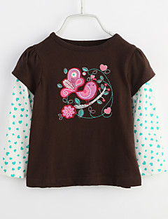 Baby Daily Print Blouse-Cotton-Spring Fall-