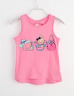 Casual/Dagelijks Dierenprint Katoen Zomer Mouwloos Mouwloos shirt & hemdje Lang