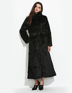 Χαμηλού Κόστους -Γούνινο παλτό Μακρύ Μανίκι Μακρύ