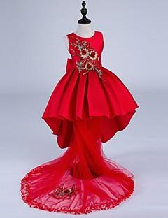ieftine -rochie de bal rochie asimetrică rochie de mireasă - satin fără mâneci gât de bijuterie cu broderie de mii