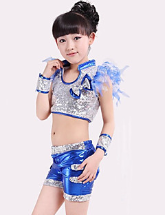 Zullen we jazz outfits kinderen performance bow (s) sequins 4 stuks