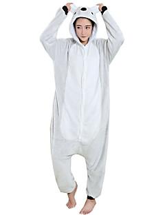billige Kigurumi-Kigurumi-pysjamas Koala Onesie-pysjamas Kostume Flanell Fleece Grå Cosplay Til Pysjamas med dyremotiv Tegnefilm Halloween Festival /