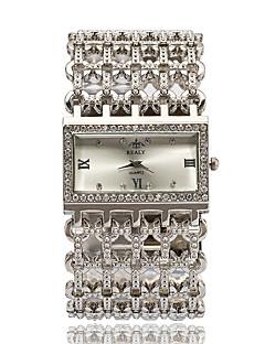 女性用 ファッションウォッチ リストウォッチ ブレスレットウォッチ クォーツ ラインストーン 模造ダイヤモンド 合金 バンド Elegant シルバー ゴールド ローズゴールド