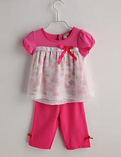 Baby Meisje Casual/Dagelijks Kleurenblok Kledingset Zomer