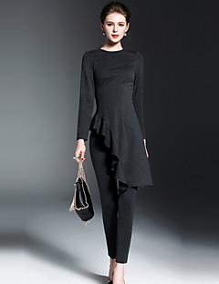 hesapli OYCP-Kadın's Gömlek Solid Pantolon