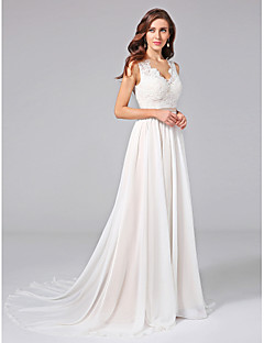 Wedding dresses online wedding dresses for 2018 a line v neck court train chiffon lace made to measure wedding dresses with appliques lace sash ribbon by lan ting bride junglespirit Images