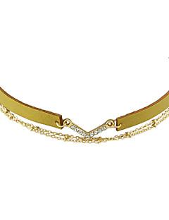 Kadın's Gerdanlıklar Basic Tasarım Altın Beyaz Siyah Gümüş Mücevher Için Günlük 1pc
