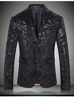 Men's Party Casual/Daily Holiday Casual Sexy Street chic Spring Fall Blazer