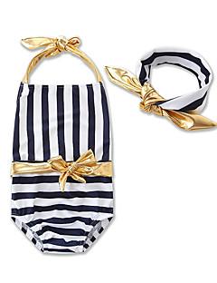 Girls' Stripes Striped Swimwear,Cotton Polyester