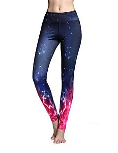 Mulheres Leggings de Ginástica Leggings de Corrida Força Alta Secagem Rápida Respirável Macio Exterior Materiais Leves Meia-calça Calças