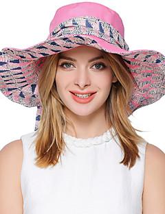 billige Trendy hatter-Dame Søtt Fest Kontor Solhatt Stripet Polyester